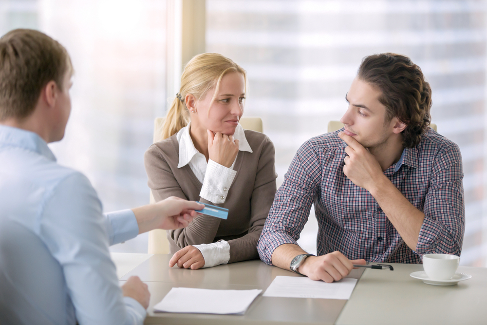 Discussing advertising payment with clients